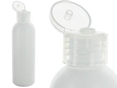 Botella 100 ml blanca, HDPE con Tapa Flip-top