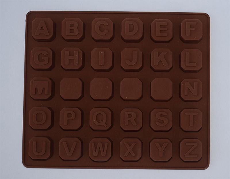 Molde silicona letras