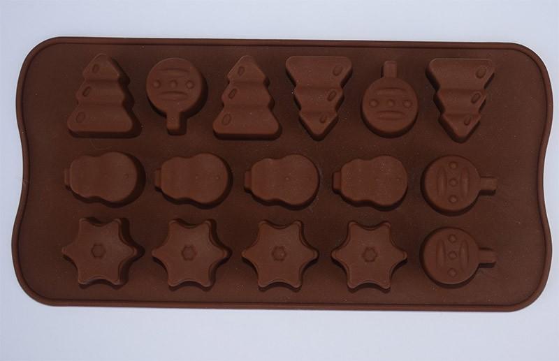 Molde silicona figuras navideñas