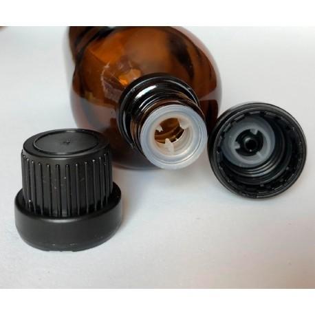 Tapón con anillo de vertido para frascos DIN18