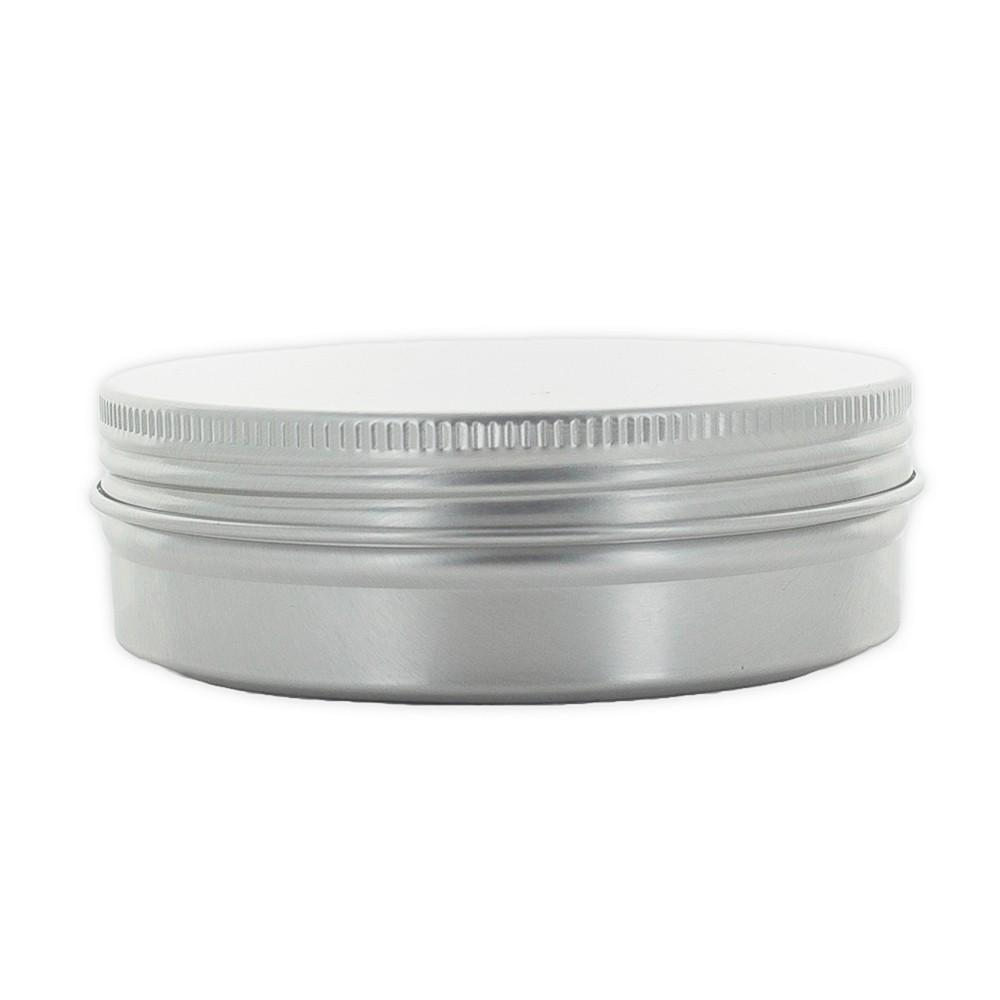 Envase transparente con tapa Plata de 50ml
