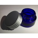 Tarro cristal azul cobalto 5ml sin obturador