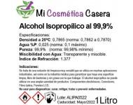 Alcohol Isopropílico 99,9% - 5 Litros