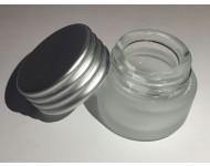 Tarro cristal esmerilado 5ml sin obturador