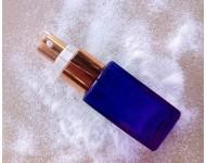 Frasco alto cristal azul cobalto 25ml sérum