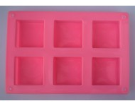 Molde silicona 6 cuadrados
