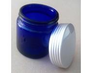 Tarro cristal azul cobalto 120ml sin obturador