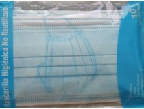 Pack de 10 Mascarillas Higiénicas de 1 Uso.